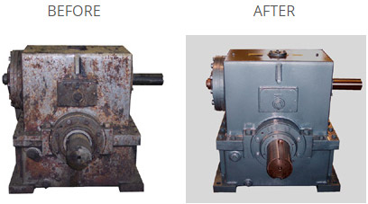 gearbox repair before and after pictures