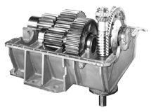 Open View of Industrial Gearbox
